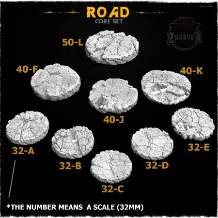 Road Resin Base Toppers - Core Set (9 items)