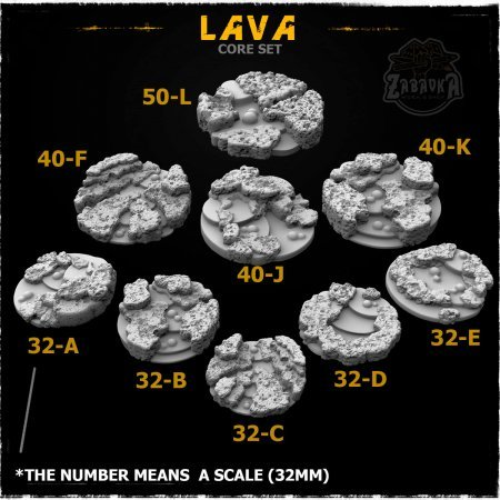 Lava Resin Base Toppers - Core Set (9 items)