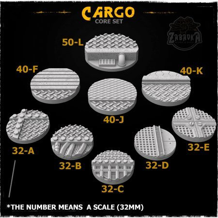 Cargo Resin Base Toppers - Core Set (9 items)