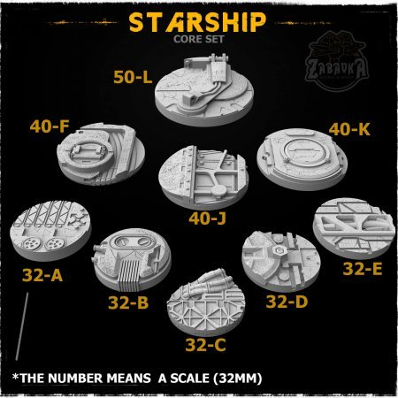 Starship Resin Base Toppers - Core Set (9 items)