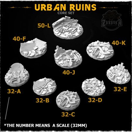 Urban Ruins Resin Base Toppers - Core Set (9 items)