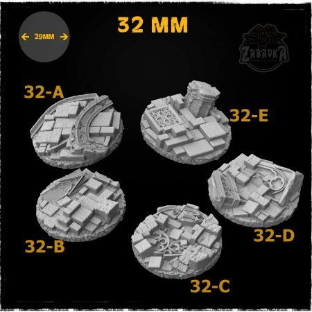 Gothic Ruins Resin Base Toppers - Core Set