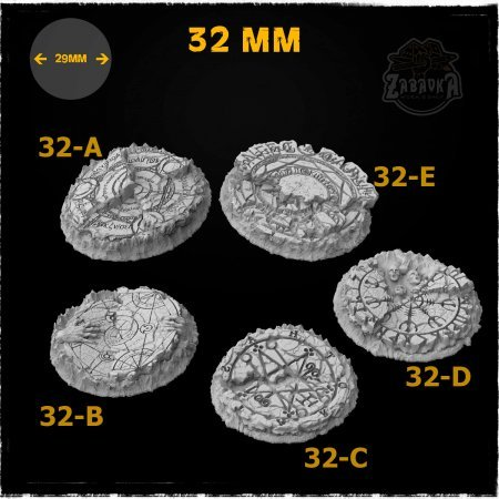 Demons of Hell Resin Base Toppers - Core Set