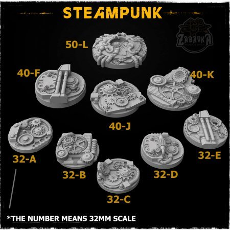 Steampunk Resin Base Toppers - Core Set (9 items)