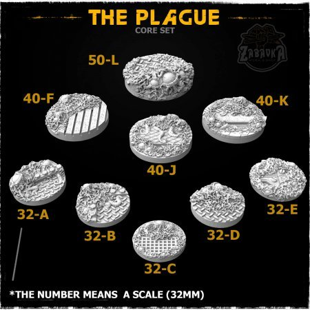 The Plague Resin Base Toppers - Core Set (9 items)