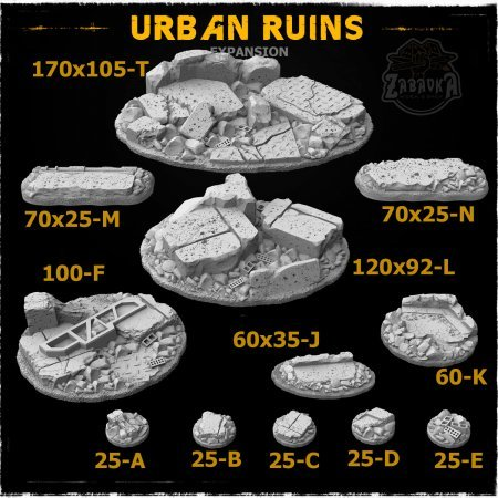 Urban Ruins Resin Base Toppers - Extra Set (12 items)
