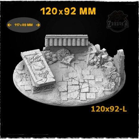 Graveyard-1 - 120x92mm Resin Base Topper