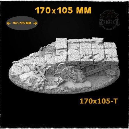 Graveyard-1 - 170x105mm Resin Base Topper