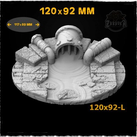 Sewers - 120x92mm Resin Base Topper