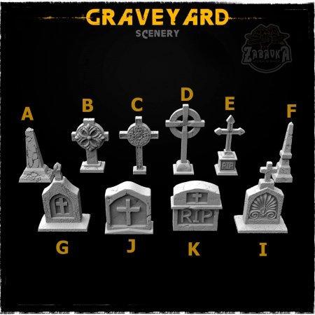 Graveyard - Scenery Elements (10 items)