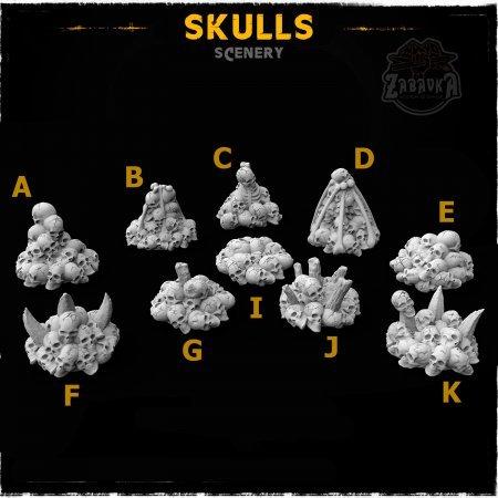 Skulls - Scenery Elements (10 items)