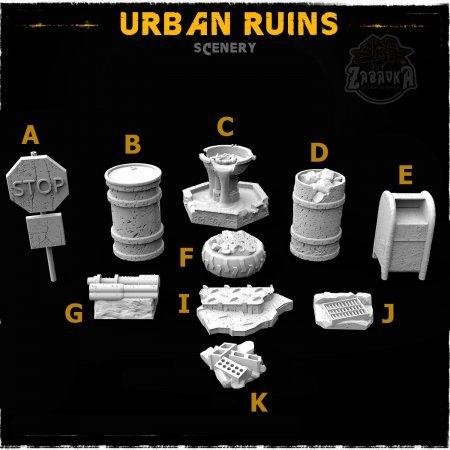 Urban Ruins - Scenery Elements (10 items)