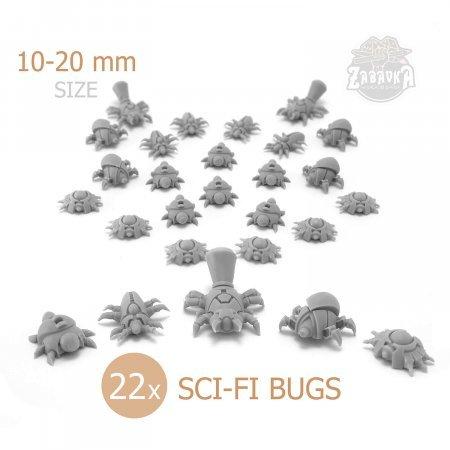 Sci-Fi Resin Bugs (10-20mm)
