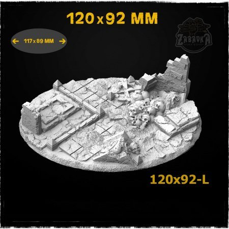 Graveyard-2 - 120x92mm Resin Base Topper