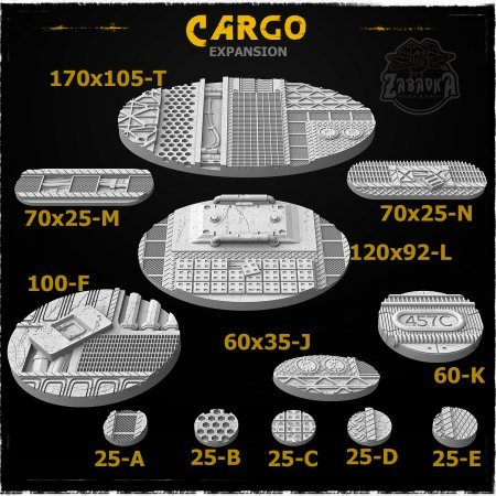 Cargo Resin Base Toppers - Extra Set (12 items)