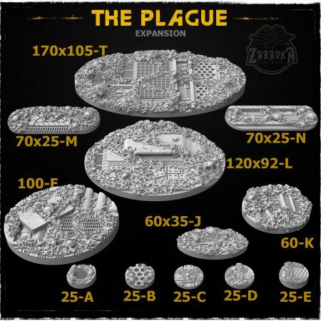 The Plague Resin Base Toppers - Extra Set (12 items)