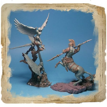 "Set ""Battle of the Centaur vs the Harpies"" (40-54mm)"